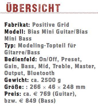 Positive Grid Bias Mini Guitar Bass