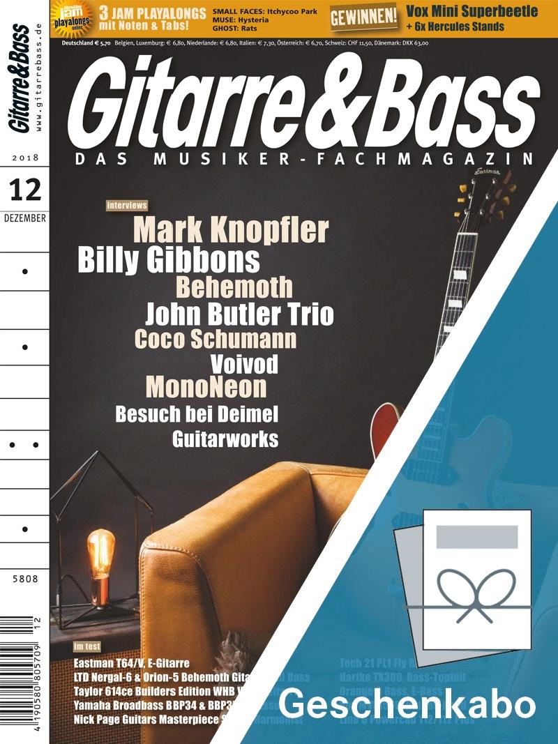 Produkt: Gitarre & Bass Geschenkabonnement Print
