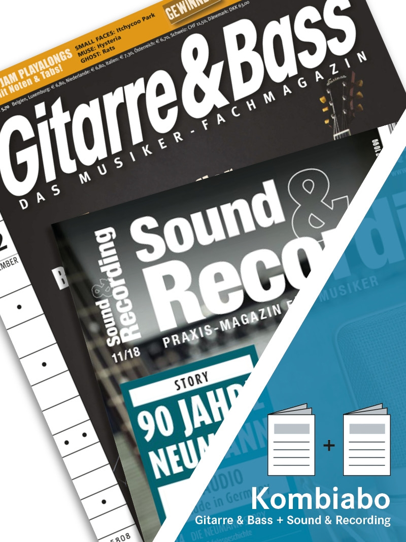 Produkt: SOUND & RECORDING + GITARRE & BASS Kombi-Abo