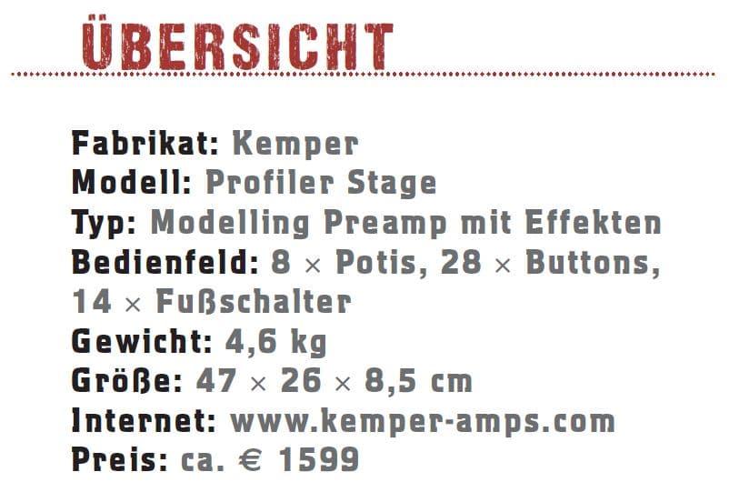 Kemper Profiler Stage