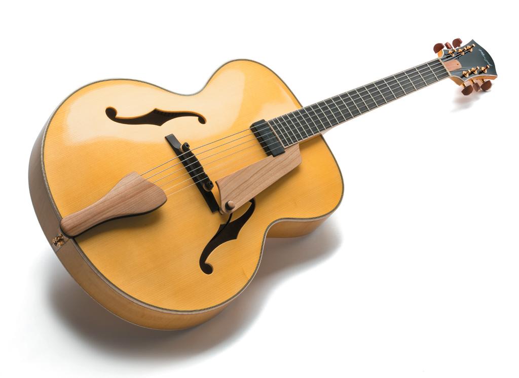 Test Meigel 17 Zoll Jazz Modell Gitarre Bass