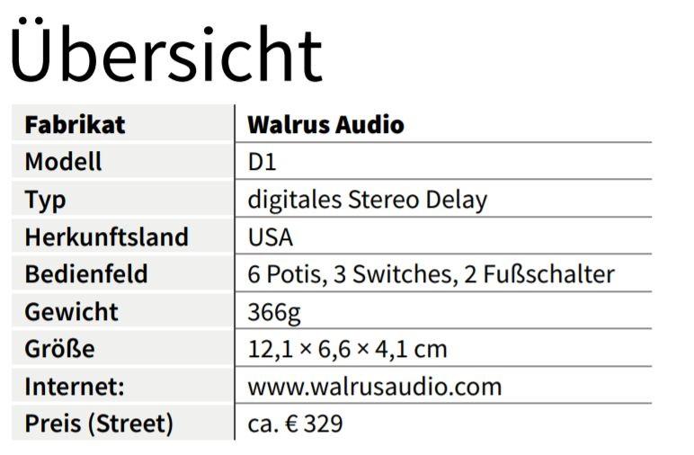 Walrus D1